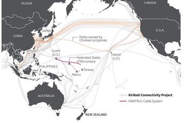 """Mỹ """"cấm cản"""" Huawei thầu cáp quang biển khu vực Thái Bình Dương"""