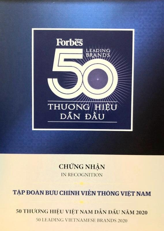 VNPT đứng top 3 thương hiệu giá trị nhất Việt Nam 2020