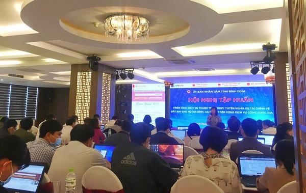 Bình Định tập huấn về thanh toán trực tuyến nghĩa vụ tài chính trong lĩnh vực đất đai