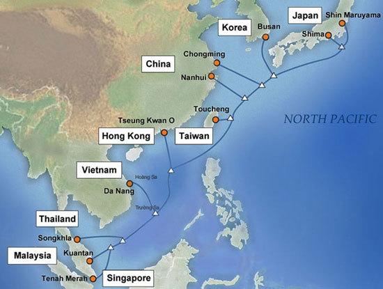 Hai tuyến cáp quang biển quốc tế đang gặp sự cố