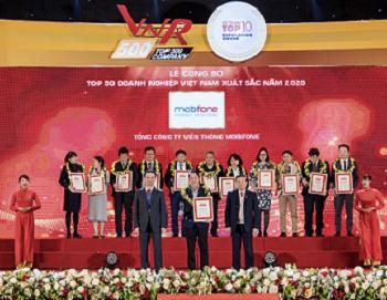 MobiFone được vinh danh Top 50 thương hiệu Việt Nam xuất sắc nhất năm 2020
