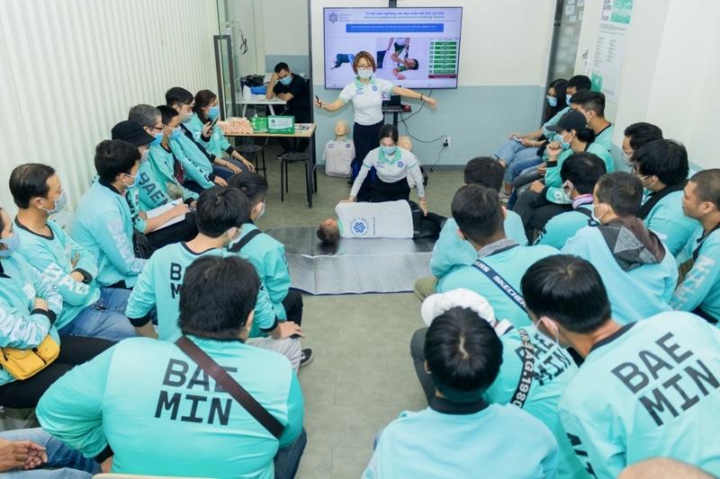 BAEMIN nâng cao kiến thức sơ cấp cứu cho đối tác tài xế
