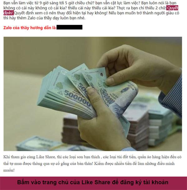 Cảnh giác với các tin nhắn mời chào kiếm tiền online có dấu hiệu lừa đảo
