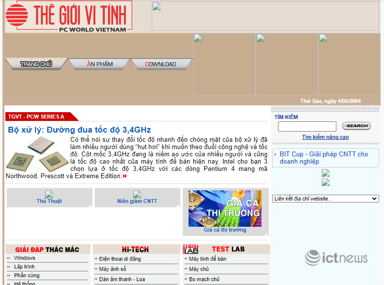 Giao diện của các website, diễn đàn 'vang bóng một thời' tại Việt Nam