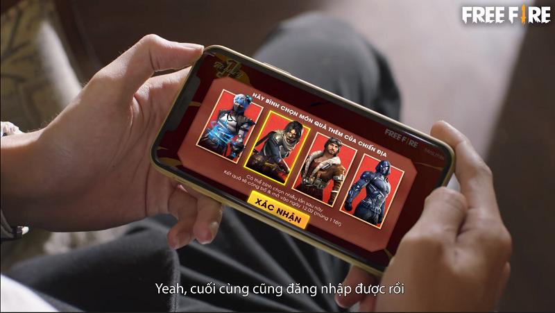 AS Mobile và Lê Bảo cùng đứng chung 1 khung hình trong phim viral Tết của Free Fire, đọ xem ai đẹp trai hơn