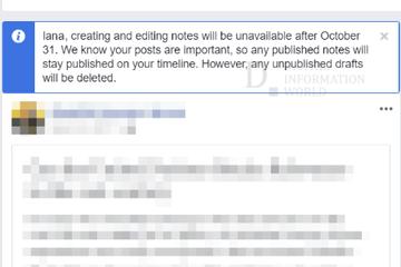 Cách tìm lại các bản Ghi chú trên Facebook