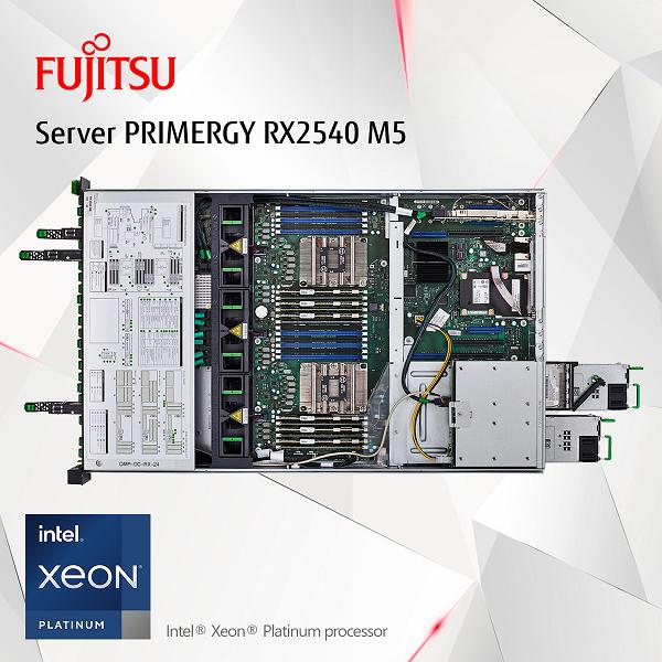 Siêu phẩm Fujitsu PRIMERGYGX2460M1 và RX2540M5 – tích hợp chip xử lý Intel® Xeon® Platinum processor