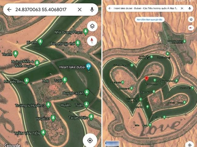 Hồ tình yêu Dubai phục hồi nguyên bản trên Gmaps sau khi bị dân mạng Việt phá rối