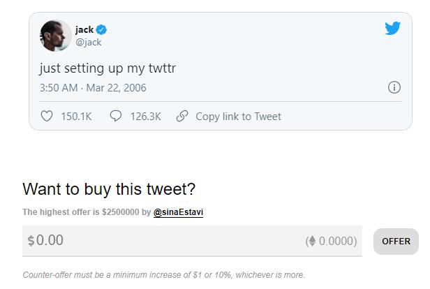 Jack Dorsey, Elon Musk và những dòng tweet đem bán đấu giá thời 4.0