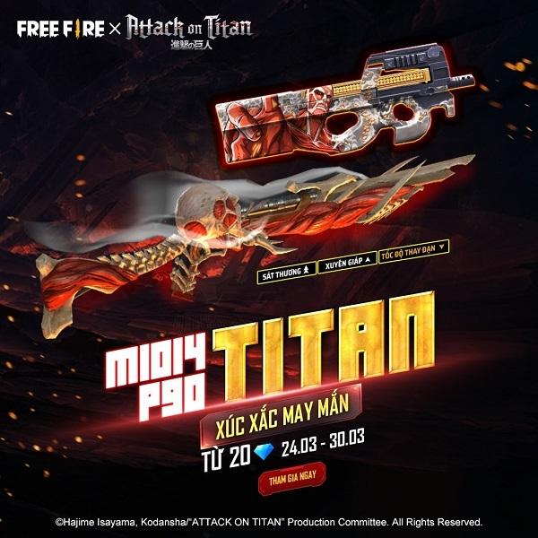 Người chơi Free Fire sẽ chiến đấu sinh tồn như những chiến binh Titan thông qua sự kết hợp mới
