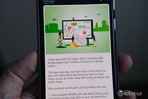 Vietcombank cảnh báo tin nhắn lừa đảo khách hàng