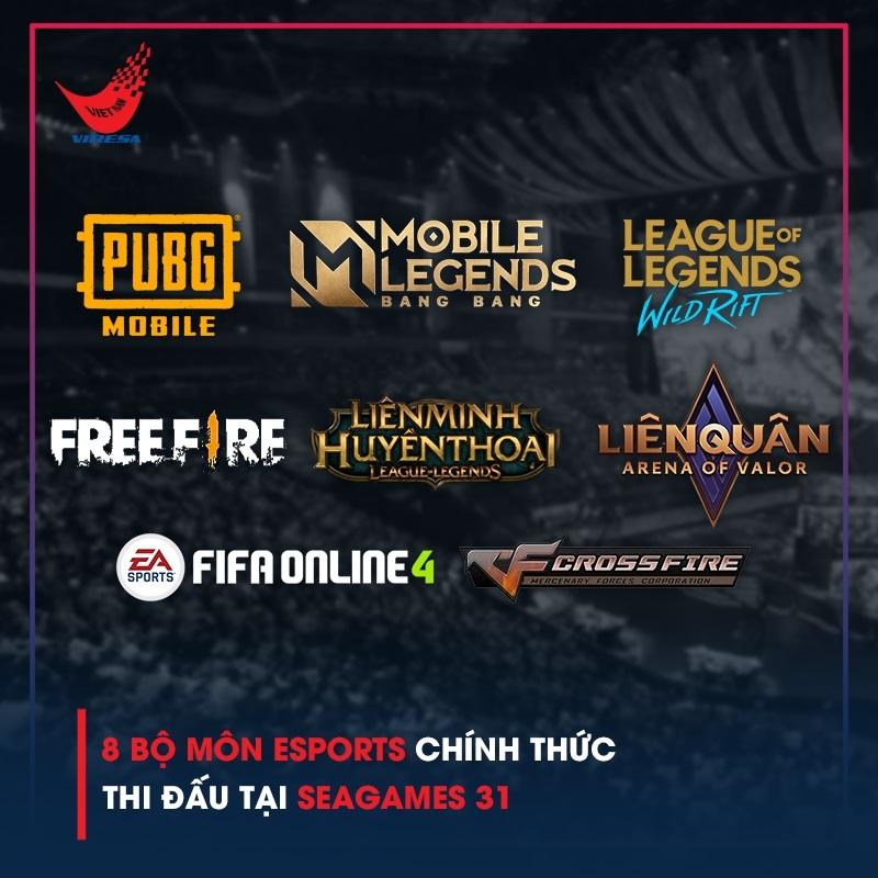 Ban hành danh mục 10 nội dung thi đấu eSports của SEA Games 31