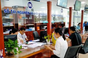 Người dân chỉ phải chờ tối đa 30 phút/lần giao dịch tại bộ phận một cửa