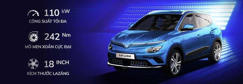 ô tô điện VF34,3 ưu điểm an toàn