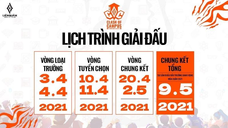 Chính thức mở đăng ký giải đấu Clash of Campus từ ngày 27/3 với tổng giải thưởng 200.000.000 VNĐ