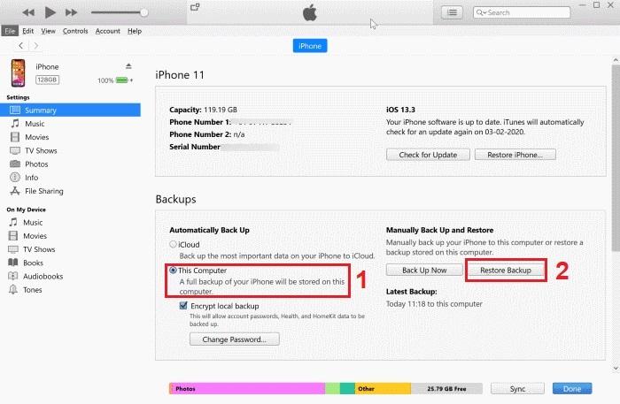 Hướng dẫn chuyển dữ liệu từ iPhone sang iPhone