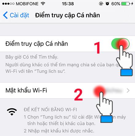 WiFi,iPhone,đổi tên,mật khẩu,hướng dẫn