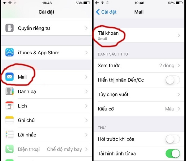 Gmail,iPhone,đăng xuất,tài khoản,iOS,hướng dẫn