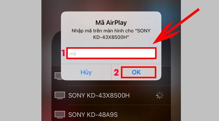 Cách phản chiếu màn hình iPhone lên tivi Sony