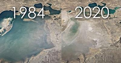 Google Earth Timelapse cho thấy tác động của biến đổi khí hậu trong 4 thập kỷ qua