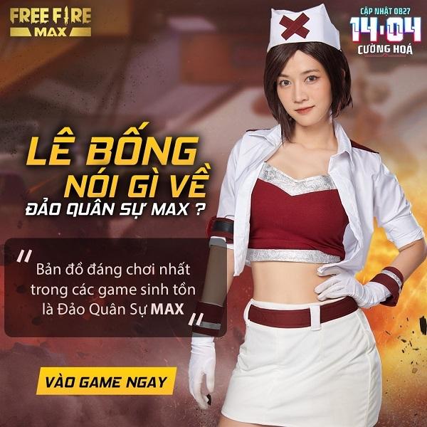 Kaity Nguyen xuất hiện trên sảnh chờ Free Fire Max OB27