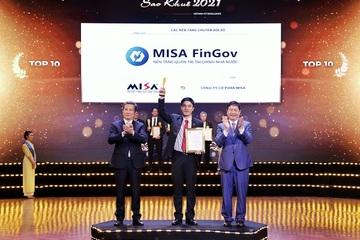 Nền tảng chuyển đổi số của MISA lọt Top 10 tiêu biểu nhất Sao Khuê 2021