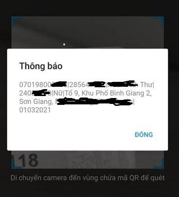 Mã QR trên Căn cước công dân ghi những thông tin gì?
