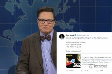 Vừa khiến Dogecoin lao dốc, Elon Musk lại chuẩn bị đưa lên mặt trăng