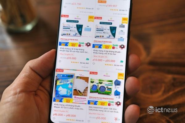 Sản phẩm phòng dịch giảm giá mạnh trên kênh online