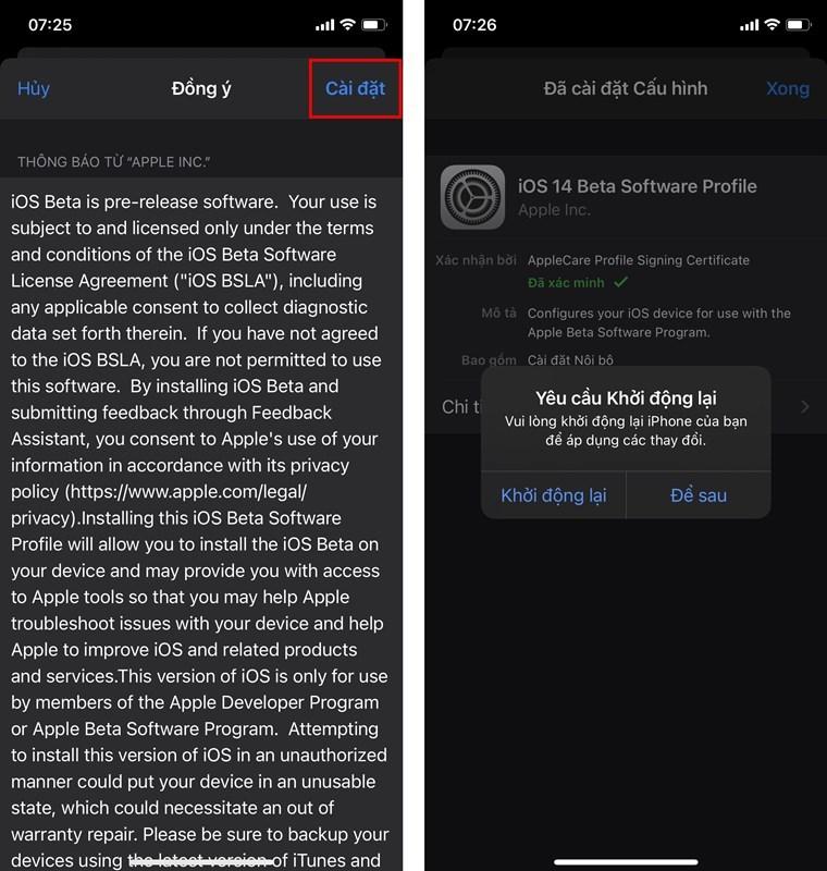 Hướng dẫn cập nhật iOS bản beta của lập trình viên