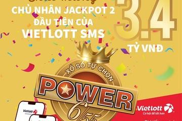 Chủ thuê bao MobiFone trúng Jackpot 3,4 tỷ đồng khi mua vé trên kênh điện thoại Vietlott SMS