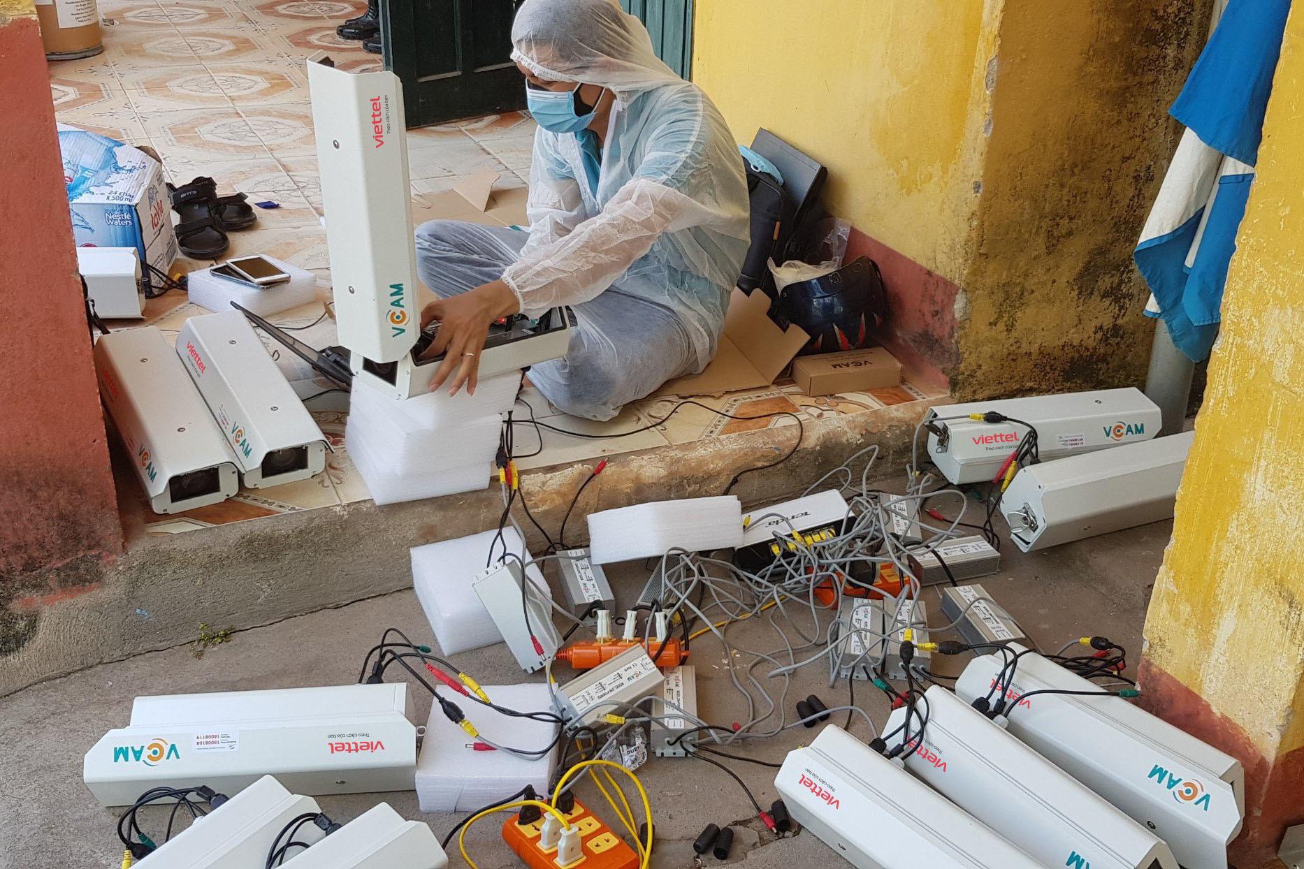 1.000 camera tại các khu cách ly ở Bắc Giang được lắp đặt trong 5 ngày