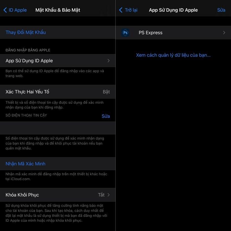 Hướng dẫn kiểm soát ứng dụng truy cập Apple ID