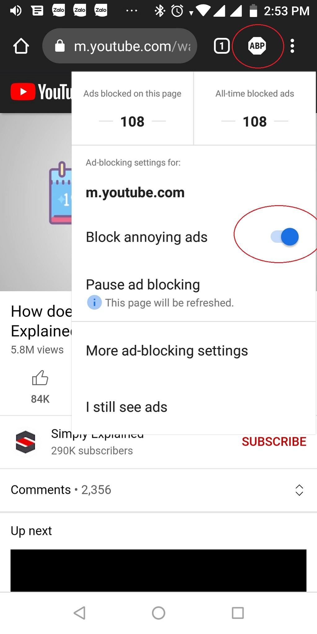Hướng dẫn chặn quảng cáo YouTube trên Android
