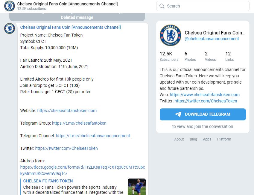 Cẩn thận trò lừa tiền ảo ăn theo nhà vô địch Chelsea
