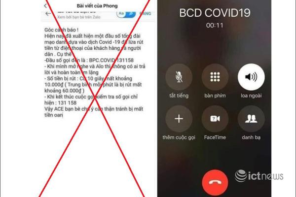 """Bắc Ninh: Thông tin bị trừ tiền khi nhận cuộc gọi hiển thị """"BCD COVID19"""" là bịa đặt"""
