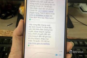 Nhắn tin vận động người dân cả nước mua trực tuyến vải thiều Bắc Giang