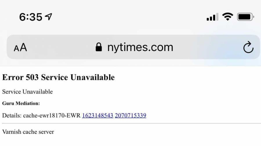 Website Nhà Trắng, Chính phủ Anh và nhiều các tờ báo, diễn đàn lớn đồng loạt bị sập