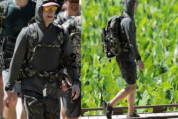Hình ảnh CEO Facebook Mark Zuckerberg 'lên đồ' vào rừng săn bắn