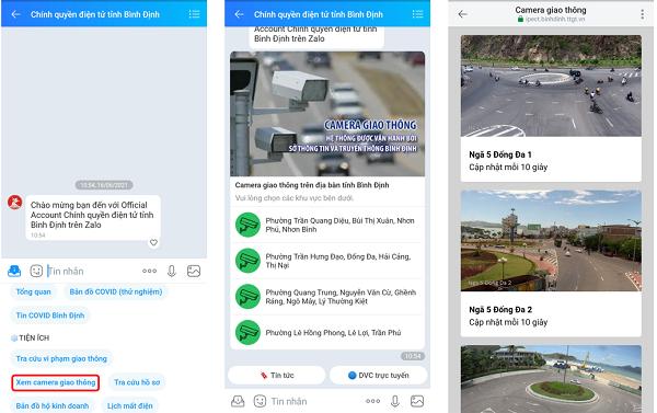 Bình Định thử nghiệm hệ thống giám sát giao thông qua Zalo