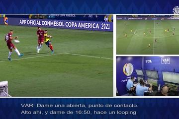 VAR ở Copa America 2021 cũng bỏ qua lỗi bóng chạm tay như Euro