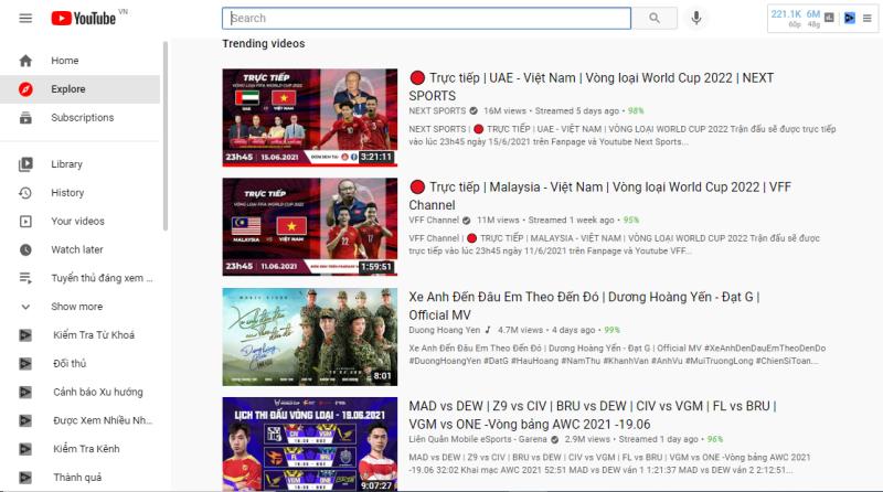 Thể thao điện tử Liên Quân hot không kém bóng đá khi lọt top thịnh hành Youtube nhiều khu vực ngay ngày khai mạc