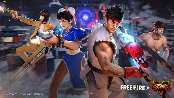 Hôm nay Free Fire hợp tác toàn cầu với Street Fighter V
