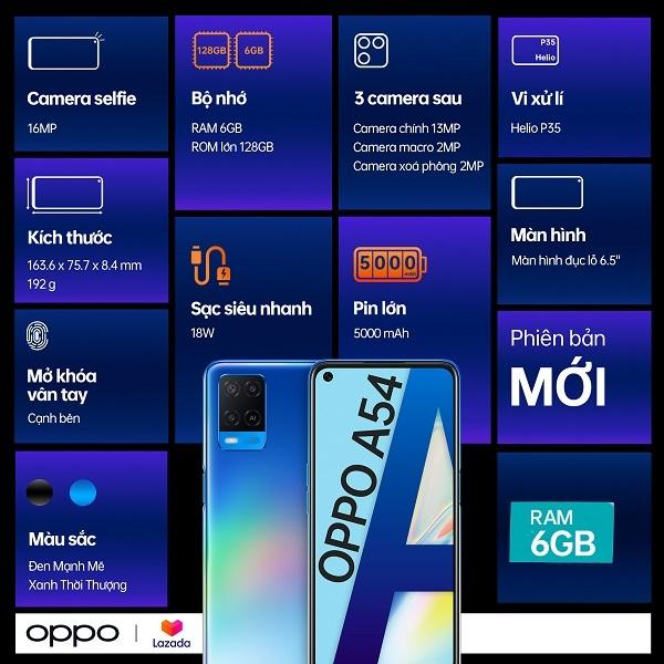 OPPO A54 6GB RAM: Lựa chọn hoàn hảo cho giải trí mùa dịch