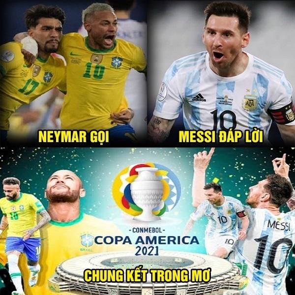 Fan bóng đá chào đón trận chung kết Argentina vs Brazil ở Copa America