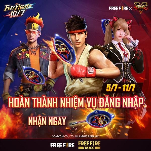 Free Fire,Street Fighter V,Võ Sĩ Xích Long