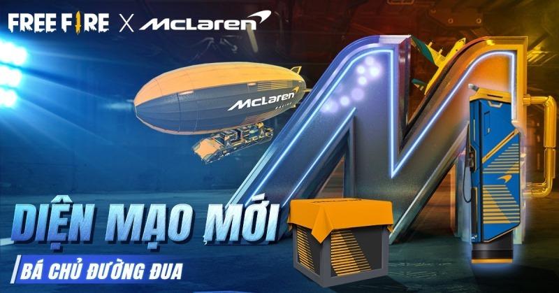 Bá Chủ Đường Đua: Chính thức ra mắt sự kiện hợp tác giữa Garena Free Fire và hãng siêu xe McLaren