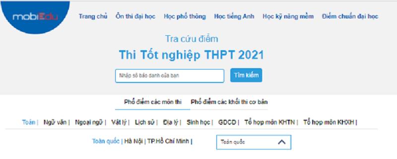 Tra cứu điểm thi tốt nghiệp THPT 2021 nhanh nhất tại mobiEdu