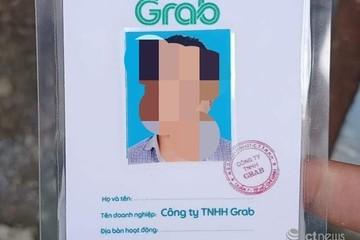 Làm giả thẻ có logo và con dấu của Grab tại TP.HCM
