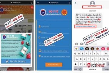 Cảnh báo thủ đoạn giả mạo website của Bộ Y tế để lừa đảo trợ cấp Covid-19